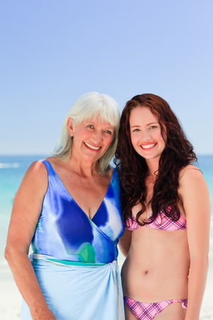 Senior woman with her daughter photo