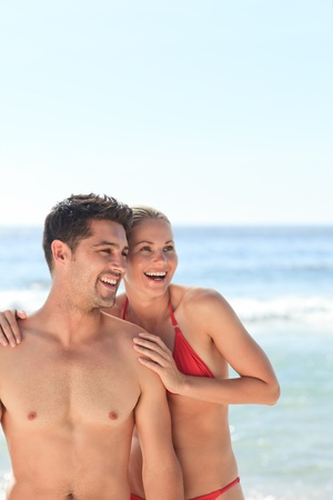 Joyful couple at the beach Stock Photo - 10196956