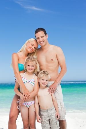Happy family on the beach Stock Photo - 10197171