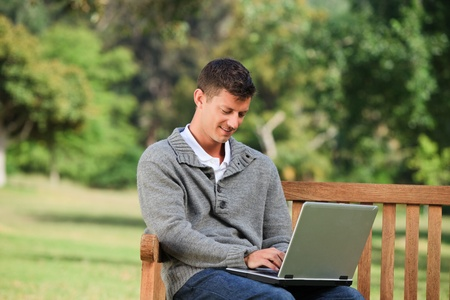 Man working on his laptop Stock Photo - 10197408