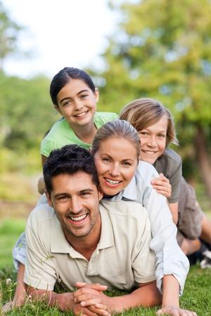 Happy family in the park Stock Photo - 10197268