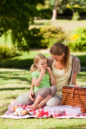 Mutter und ihrer Tochter ein Picknick im Park Lizenzfreie Bilder - 10194386
