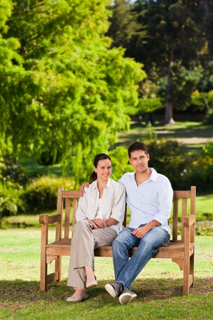 Lovers on the bench photo