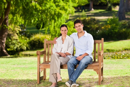 Couple on the bench Stock Photo - 10194384