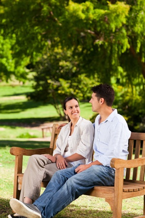 Couple on the bench Stock Photo - 10195080
