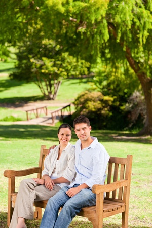 Couple on the bench photo