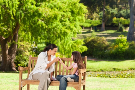 Cute girl with her mother in the park Stock Photo - 10195086