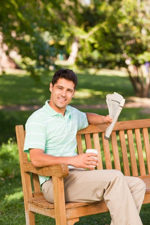 Man with a  paper Stock Photo - 10190934