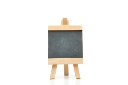 Clean chalkboard on a white background photo