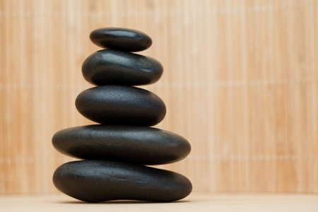 Many piled up pebbles on a brown background Stock Photo - 10206707
