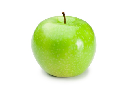 Green apple on a white background photo