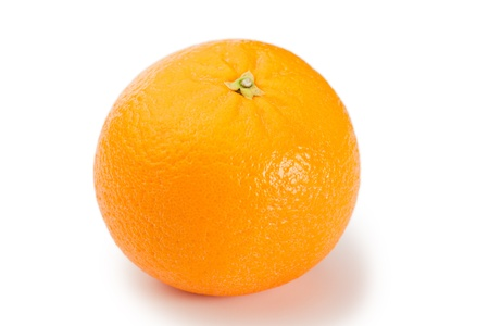 Top view of an orange on a white background Stock Photo - 10195248