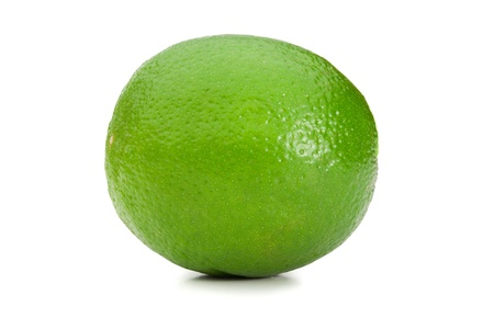 Green lemon on a white background photo