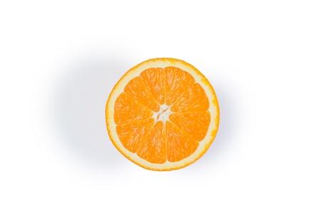 Half orange on a white background photo