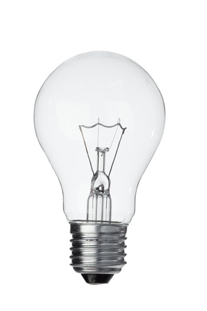 Vertical light bulb on a white background Stock Photo - 10194105