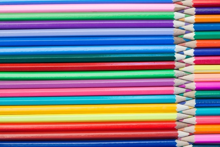 Joined color pencils on their own background Stock Photo - 10207042