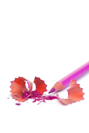 Purple pencil on a white background photo