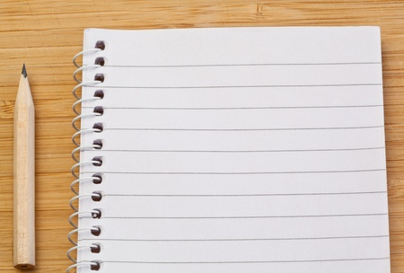 Notebook and pen on a desk Stock Photo - 10206595