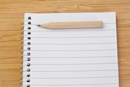 Notebook and pen on a desk Stock Photo - 10206791