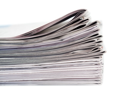 Newspapers on a white background Stock Photo - 10206416