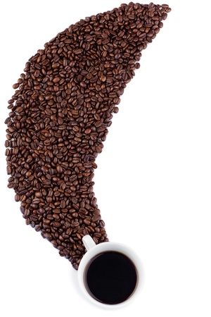 Coffee on a white background Stock Photo - 10205479
