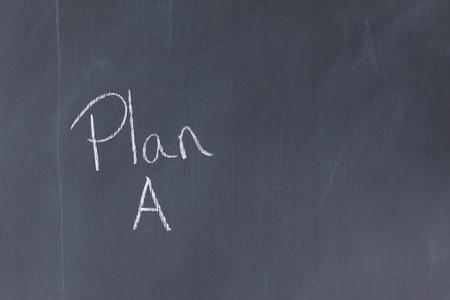 Blackboard with Plan A written on it photo