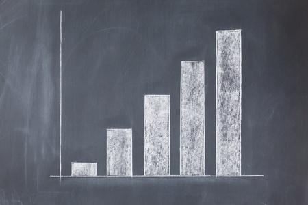 White simple diagram on a blackboard photo