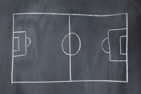 Empty soccer field on a blackboard photo