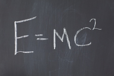 Blackboard with a formula written on it photo