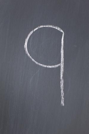 Blackboard with 9 written on it photo