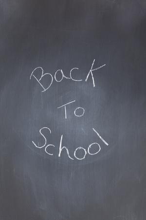 Blackboard with back to school written on it photo