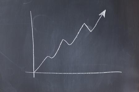 Irregular curve on a blackboard photo