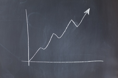 Irregular curve on a blackboard Stock Photo - 10206906