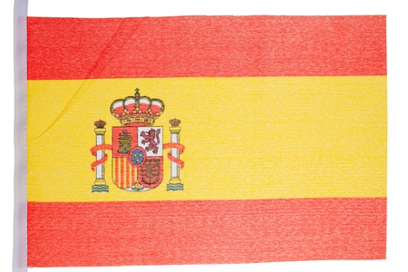 Spanish flag against a white background photo