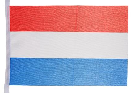 Dutch flag against a white background photo