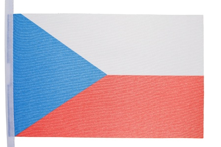 Czech flag against a white background photo