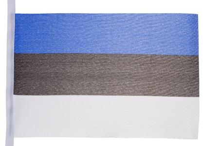 Estonian flag against a white background photo