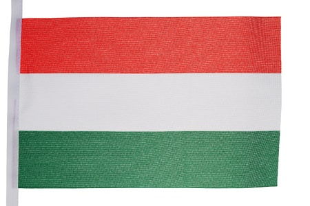 Hungarian flag against a white background photo