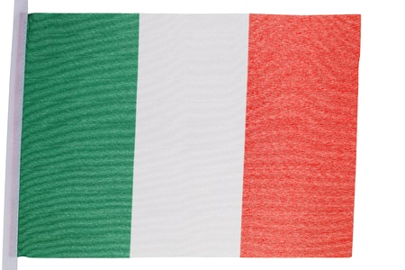 Italian flag against a white background Stock Photo - 10207372
