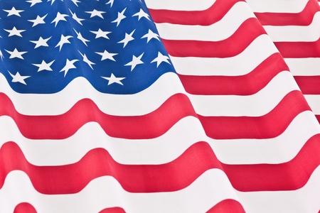 Rippled US flag photo