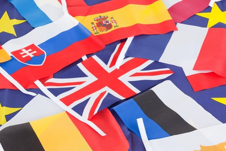 Several country flags photo