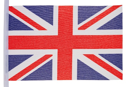 Great Britain flag against a white background Stock Photo - 10207375