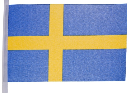 Swedish flag against a white background Stock Photo - 10207367