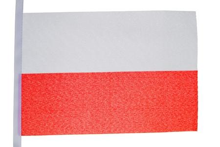 Polish flag against a white background Stock Photo - 10207229