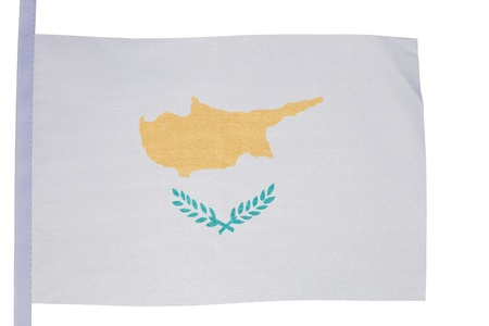 Cypriot flag against a white background photo
