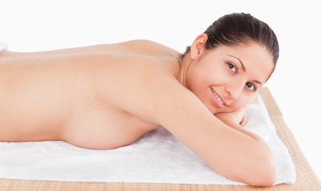 young woman waiting for a massage in a spa Stock Photo - 10194988