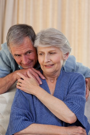 Mature man hugging his wife Stock Photo - 10198998