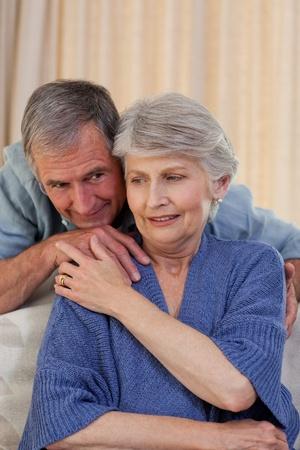 Mature man hugging his wife Stock Photo - 10198998
