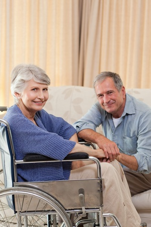 Mature couple looking at the camera photo