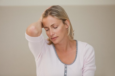 Woman having a headache photo